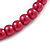 8mm Cranberry Red Glass Bead Choker Necklace & Stud Earrings Set - 37cm L/ 5cm Ext - view 5