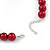 14mm Red Glass Bead Choker Necklace & Stud Earrings Set - 37cm L/ 5cm Ext - view 5