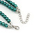 2 Strand Layered Pine Green Graduated Ceramic Bead Necklace and Drop Earrings Set - 52cm L/ 4cm Ext - view 6
