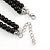 2 Strand Layered Black Graduated Ceramic Bead Necklace and Drop Earrings Set - 52cm L/ 4cm Ext - view 5