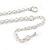 Matt Pastel Blue Enamel Leaf Necklace and Drop Earrings Set In Light Silver Tone Metal - 45cm L/ 7cm Ext - view 6