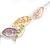 Matt Pastel Multicoloured Enamel Leaf Necklace and Drop Earrings Set In Light Silver Tone Metal - 45cm L/ 7cm Ext - view 7