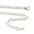 Matt Pastel Multicoloured Enamel Leaf Necklace and Drop Earrings Set In Light Silver Tone Metal - 45cm L/ 7cm Ext - view 5