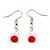 Romantic Multistrand Layered Glass/ Ceramic Beaded Necklace and Drop Earrings Set (White, Red) - 50cm L/ 5cm Ext - view 5