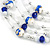 Romantic Multistrand Layered Glass/ Ceramic Beaded Necklace and Drop Earrings Set (White, Blue) - 50cm L/ 5cm Ext - view 5