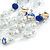 Romantic Multistrand Layered Beaded Necklace and Drop Earrings Set (White, Blue) - 50cm L/ 4cm Ext - view 5