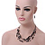Multistrand Black Glass Bead Wire Necklace & Drop Earrings Set - 48cm Length/ 5cm Extension - view 2