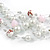 Romantic Multistrand Layered Beaded Necklace and Drop Earrings Set (White, Pastel Pink) - 50cm L/ 4cm Ext - view 4
