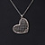 Romantic Crystal Heart Pendant and Drop Earrings In Silver Tone Metal - 40cm/ 4cm Ext - view 6
