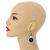 Dark Blue/ Turquoise/ White Wood Flex Necklace, Bracelet and Drop Earrings Set - 46cm L - view 3