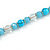 Light Blue/ Transparent Glass/ Ceramic Bead with Silver Tone Spacers Necklace/ Earrings/ Bracelet/ Ring Set - 48cm L/ 7cm Ext, Ring Size 7/8 Adjustabl - view 7