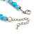 Light Blue/ Transparent Glass/ Ceramic Bead with Silver Tone Spacers Necklace/ Earrings/ Bracelet/ Ring Set - 48cm L/ 7cm Ext, Ring Size 7/8 Adjustabl - view 10