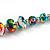Multicoloured Wooden Bead Long Necklace, Drop Earrings, Flex Bracelet Set - 80cm Long - view 10