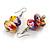 Multicoloured Wooden Bead Long Necklace, Drop Earrings, Flex Bracelet Set - 80cm Long - view 7