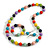 Multicoloured Wood and Silver Acrylic Bead Necklace, Earrings, Bracelet Set - 70cm Long - view 8