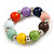Multicoloured Wood and Silver Acrylic Bead Necklace, Earrings, Bracelet Set - 70cm Long - view 5