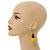 Chunky Multicoloured Long Wooden Bead Necklace, Flex Bracelet and Drop Earrings Set - 90cm Long - view 3