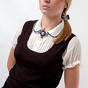 Wear Brooch on Shirt or Blouse