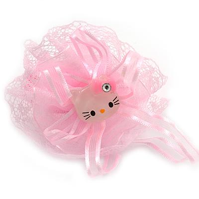 """Kids /""""Little Kitty Ballerina/"""" Pony Tail Hair Elastic//Bobble"""